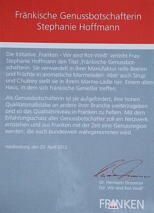Genussbotschafterin Stephanie Hoffmann