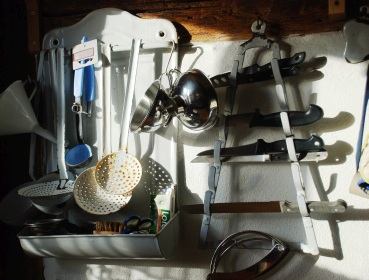 Küchenutensilien im Marme-Lädle